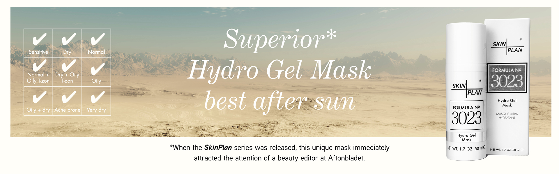Superior Hydro Gel Mask best after sun